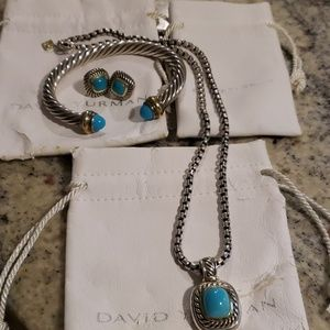 David Yurman Turquoise set